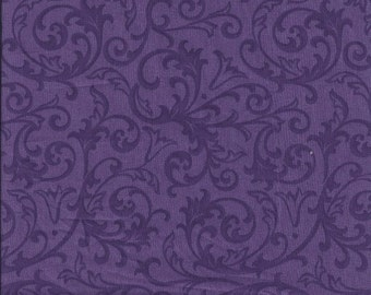 108'' Henry Glass Baroque Purple Wideback Fabric by the Yard