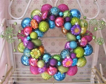 Spring Ornament Wreath Easter ornament wreath jewel-toned wreath