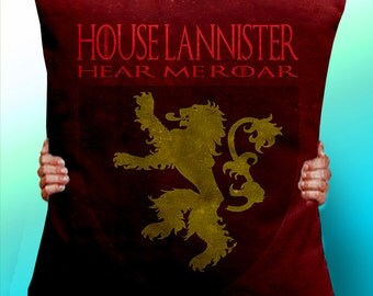 Game of Thrones House Lannister - Lion- Cushion / Pillow Cover / Panel / Fabric