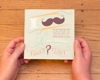 Funny (and snarky) Anniversary Mustache Card