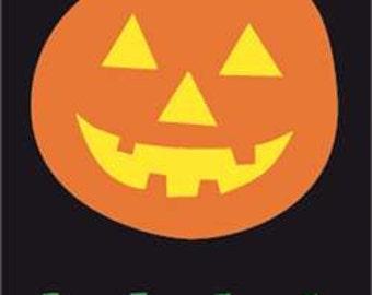 Halloween Pumpkin Handcrafted Applique House Flag