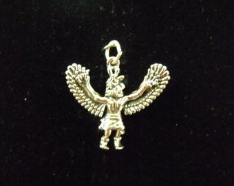 Sterling Silver Eagle Dancer 3D Charm/Pendant  - .925  3.5 grams