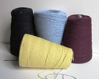 cone of combed cotton yarn Butter Yellow