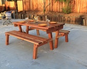 PICNIC TABLE that convert into separate BENCHES