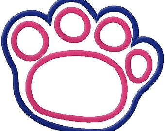 Doggy Paw Applique Embroidery Design