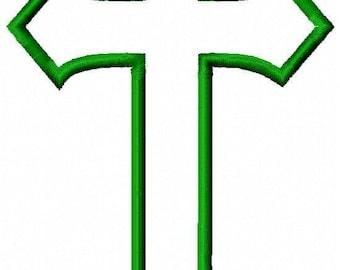 Cross Applique Embroidery Design