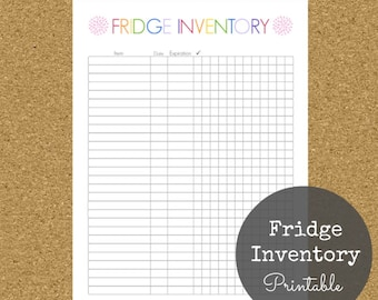 Fridge Inventory Printable