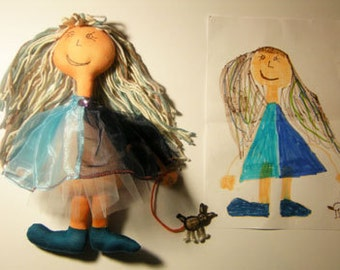 Turn your child's drawing into a ragdoll
