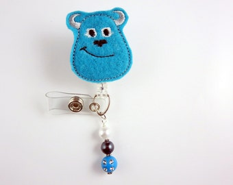Sully - Retractable ID Badge Holder-Name Badge Holder-Nurses Badge-Badge Clip-Badge Reel-Pediatric-RN-Nursing Badge Holder