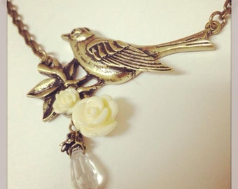Vintage Inspired Bird Necklace