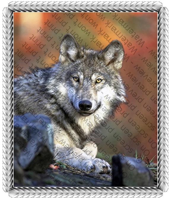 Wolf Edible Cake Topper