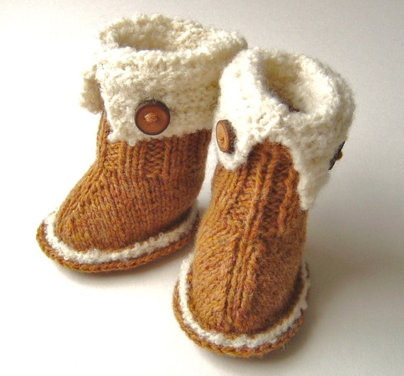 SnUGG Baby Booties Knitting PATTERN Tutorial by matildasmeadow