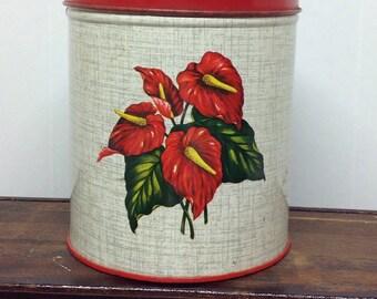 Vintage metal canister