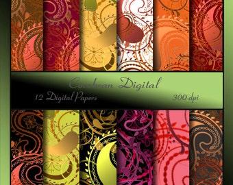Paisley Digital Paper