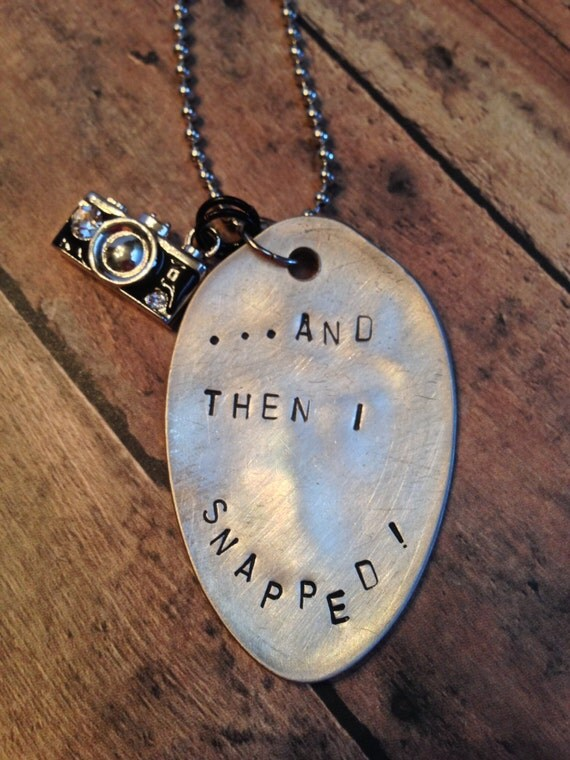 Items similar to hand stamped spoon necklace on etsy for How to make hand stamped jewelry