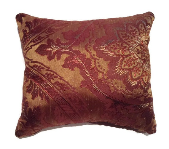 Throw Pillows Red And Gold : Decorative gold and red themed toss pillow enbroidered throw