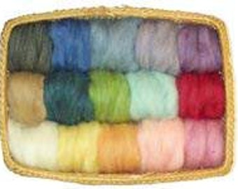 USA Made EcoSoft Wool Roving - 15 Soft Blended Colors