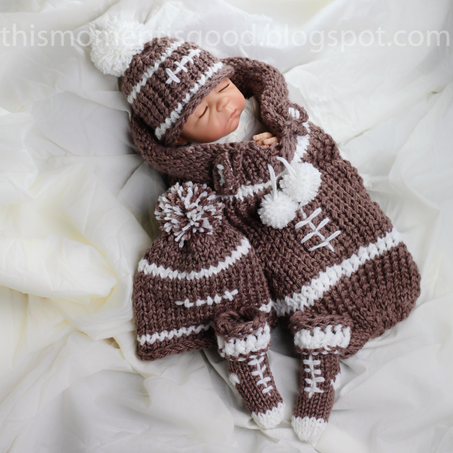 Loom Knitting Patterns For Babies : Loom Knit newborn cocoon PATTERN loom knit hat pattern loom