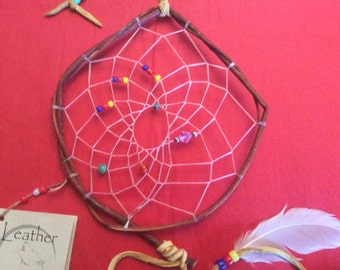 Willow Dream Catcher, Original, Traditional, Medium Size, Native Style, Made in Canada