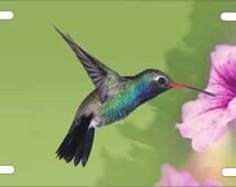 Hummingbird Personalized Custom vanity Novelty License Plate