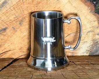 Sow Pig Metal Tankard Beer Pint Mug Gift