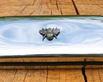 Bee Metal Pen Case & Ball Point Set Personalised Engraved Gift