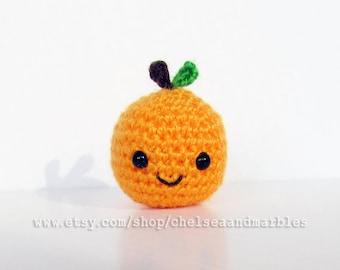 Handmade Amigurumi Crochet Play Food Clementine Gift