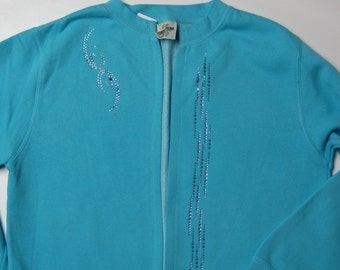 Sweatshirt jacket with swarovski crystals