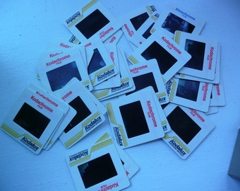 100 Colorful Vintage 35mm Slides from 1960's through 1990's for Crafts, Altered Art, Etc.