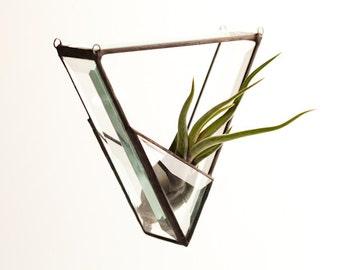 Geometric Stained Glass Air Plant Terrarium