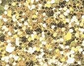 Glitter Fabric. Pale Gold. A4 sheet. JR04959