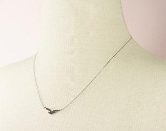 Tiny Seagull Charm with Silver Chain Necklace . Dainty and Delicate Necklace Bridesmaid Gift Bridesmaid Necklace Birthday Gift