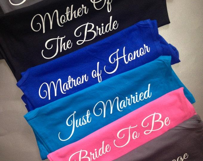 10 Custom Bridal Party hoodies. Mother of Bride hoodies. Team bride hoodies. Bride to be hoodies. Bridesmaid hoodies. Maid of Honor hoodies.
