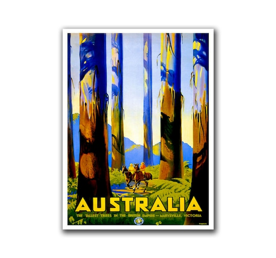 Australia travel art home decor hiking wall art print h125 Home decor wall decor australia