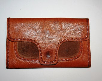 Vintage Brown Leather Wallet, Purse