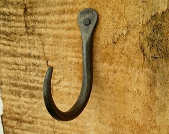 Hand Forged Tapered Tip Hook~ Blacksmith made ~Kitchen ~ Interior ~ Wrought Iron
