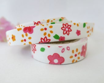 Floral Fabric Tape / Adhesive Decoration Fabric Tape  FT016