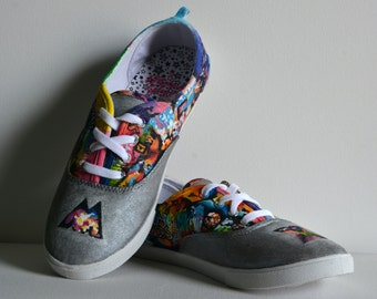 Cold Play Mylo Xyloto Themed Custom-Made Shoes