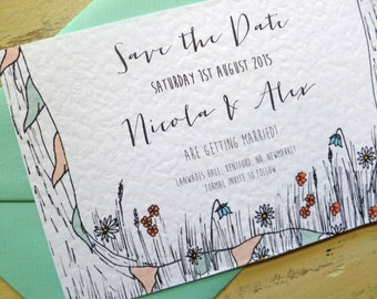 Summer Garden Party Wedding Save the Date Cards SAMPLE