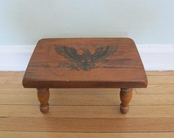 Vintage Eagle Stool Wood
