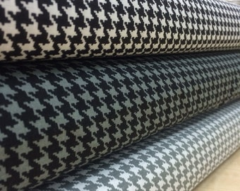 Choice Fabric- Houndstooth print- Black and white / Black and Grey / Grey and White