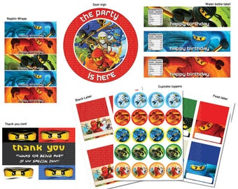 INSTANT DL- Ninjago Birthday Party Package - Printable set (NON Personalized)