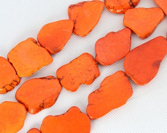 Slab Turquoise Beads,Turquoise Beads,Turquoise Stone,Gemstone Beads---30*40mm---10 Pieces---BT011