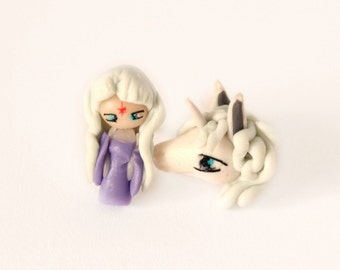 Amalthea from The last unicorn inspired, stud earring