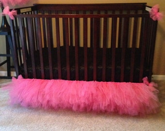 Tulle Crib Skirt - side skirts