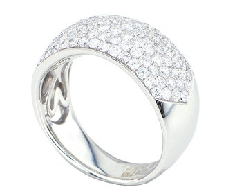 18 Kt White Gold Ring set with Diamonds