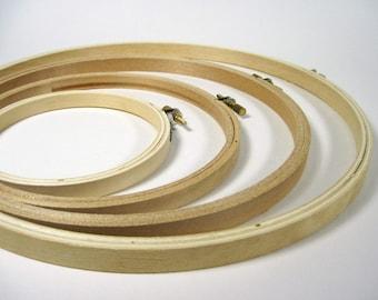 Embroidery Hoop, 8-inch, Wooden Hoop, Craft Supply, Round Hoop