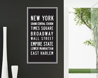 New York Scroll Wall Decal