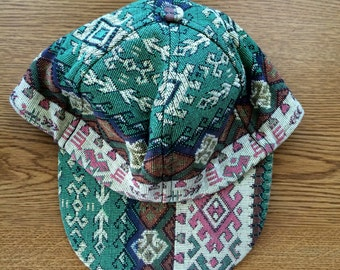 Vintage,Turkish kilim hat. Baseball cap style, adjustable