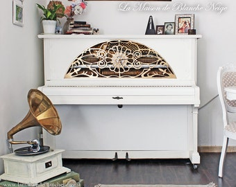 Upright piano restored steampunk-steampunk-style shabby shabby-restored floor